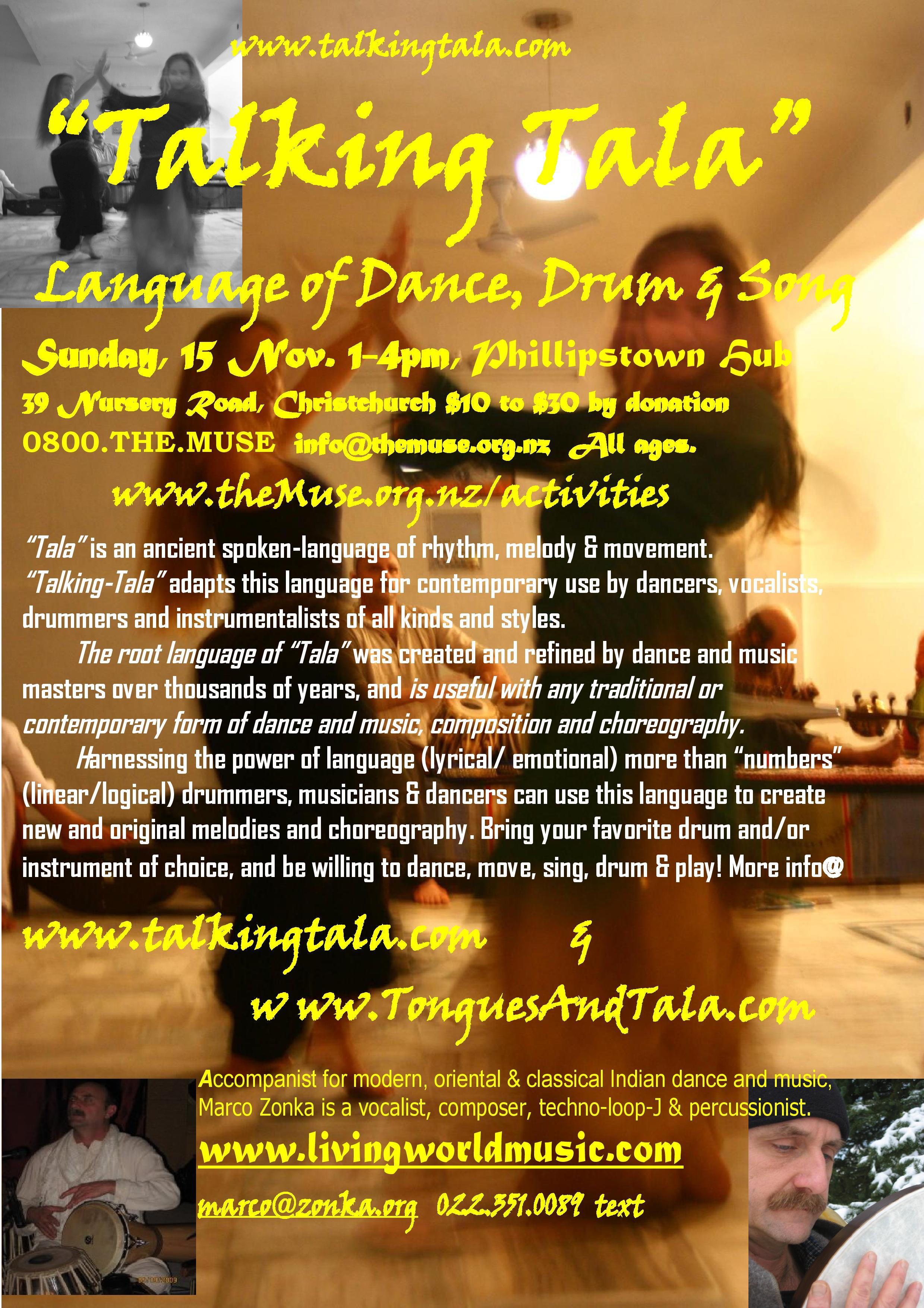 """""""Tongues & Tala"""": Language Of Dance, Drum & Song"""